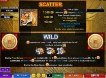 tiger moon slot screenshot 2