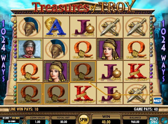 Игральный слот Treasures of Troy