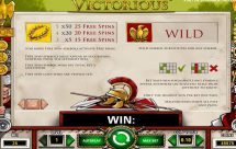 victorious slot screenshot 2