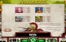 victorious slot screenshot 3