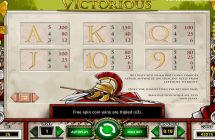 victorious slot screenshot 4