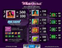 white orchid slot screenshot 2