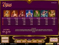 7 sins slot screenshot 4