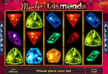 marilyns diamonds slot screenshot 4