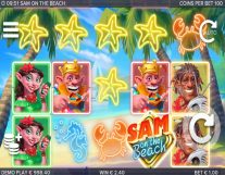 sam on the beach slot screenshot 1