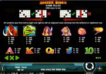 jurassic giants slot screenshot 2