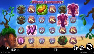 Pink Elephants slot screenshot 1